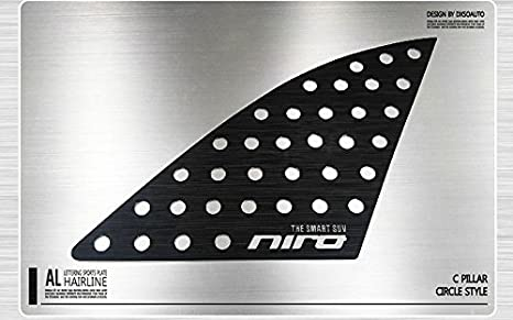 lightkorea al pelo línea ventana deportes placa panel 2pcs para Kia Niro 2016 2017: Amazon.es: Coche y moto