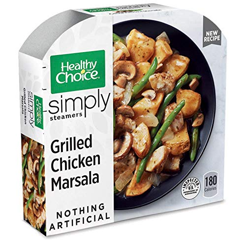 - Healthy Choice Simply Steamers Frozen Dinner, Grilled Chicken Marsala, 9.9 Ounce