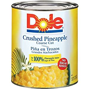Amazon.com : Dole Crushed Pineapple in Juice, 107 Ounce ...