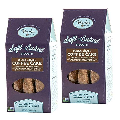Marlo's Bakeshop Brown Sugar Pecan Coffee Cake Biscotti, Gourmet Cookies, Non-GMO & Kosher Certified (2 Pack) -