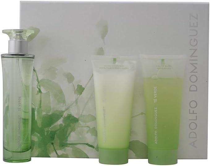 Agua de colonia adolfo domíngez te verde - estuche -: Amazon.es: Belleza