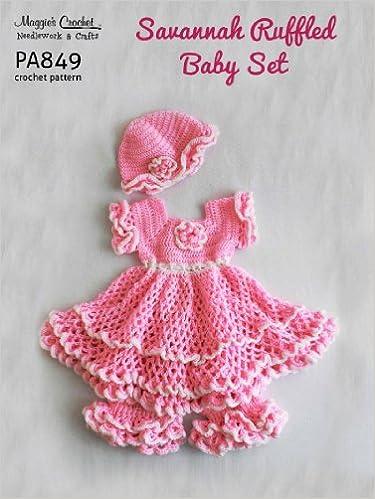 Savannah Ruffled Baby Set Crochet Pattern Maggie Weldon