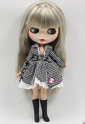 Studio one Plaid Jacket & Skirt Lovely Fashion Dress Cloth for Blythe Doll ICY 1/6 Doll Best Gift