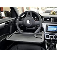 Cutequeen Trading car 1pcs Eating/Laptop Steering Wheel Desk Gray Black(Pack of 1) (Black)