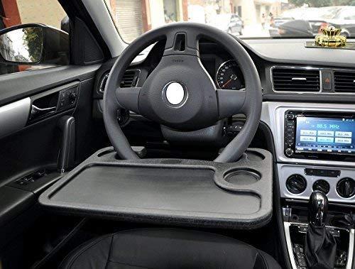 Laptop steering wheel desk