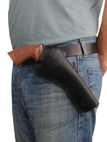 Barsony New Black Leather Cross-Draw Gun Holster for Ruger GP100 Right ()
