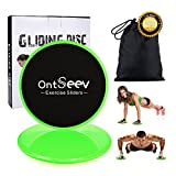 Cheap Exercise Sliders, Gliding Discs Core Sliders: Dual Slider Exercise Disc for Enhancing Coordination of Whole Body, Do Variety of Low Impact Exercise's , Perfect for Use on Hard Floors or Carpet,Green