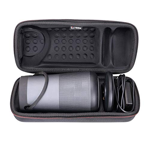 LTGEM EVA Hard Case for Bose SoundLink Revolve+ Portable & Long-Lasting Bluetooth 360 Speaker. Fits Charging Cradle, AC Adaptor and USB Cable. (Black)