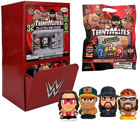 Party Animal Teenymates WWE Series Gravity Mystery Box Container (32 Pack)