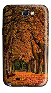 Park Autumn Polycarbonate Hard Case Cover for Samsung Galaxy Note II N7100