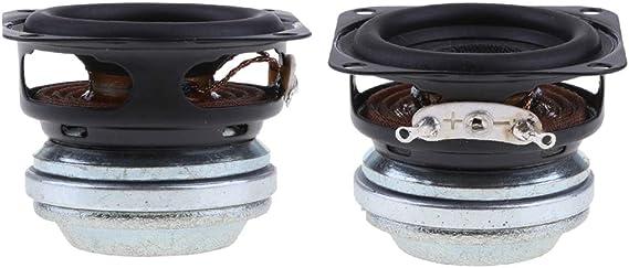 2 Piezas Altavoz Redondo de Audio de Goma Completa de 40mm 4Ohm 10W Borde de Goma 16 Bobinas