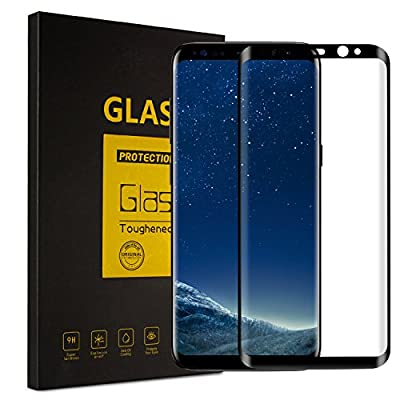 Galaxy S8 Screen Protector,Caseoly 3D Tempered Glass Full Coverage and Ultra Clear with Anti-Scratch for Samsung Galaxy S8