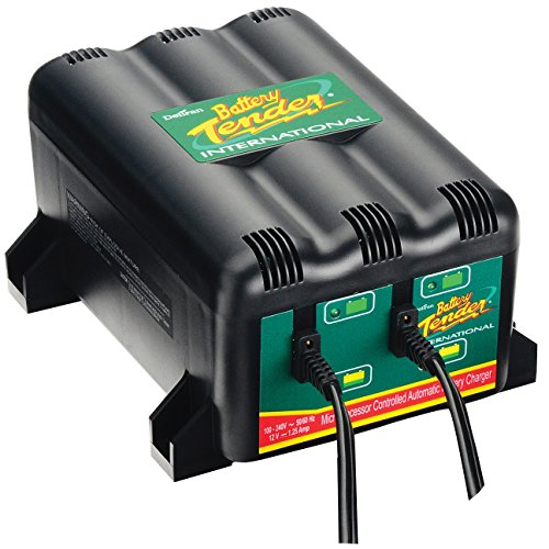 (Deltran Battery Tender 10518 Black 2 Bank Battery Charger Station)