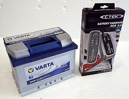 Varta D59 bateria de coche de 60Ah y cargador de baterias ...