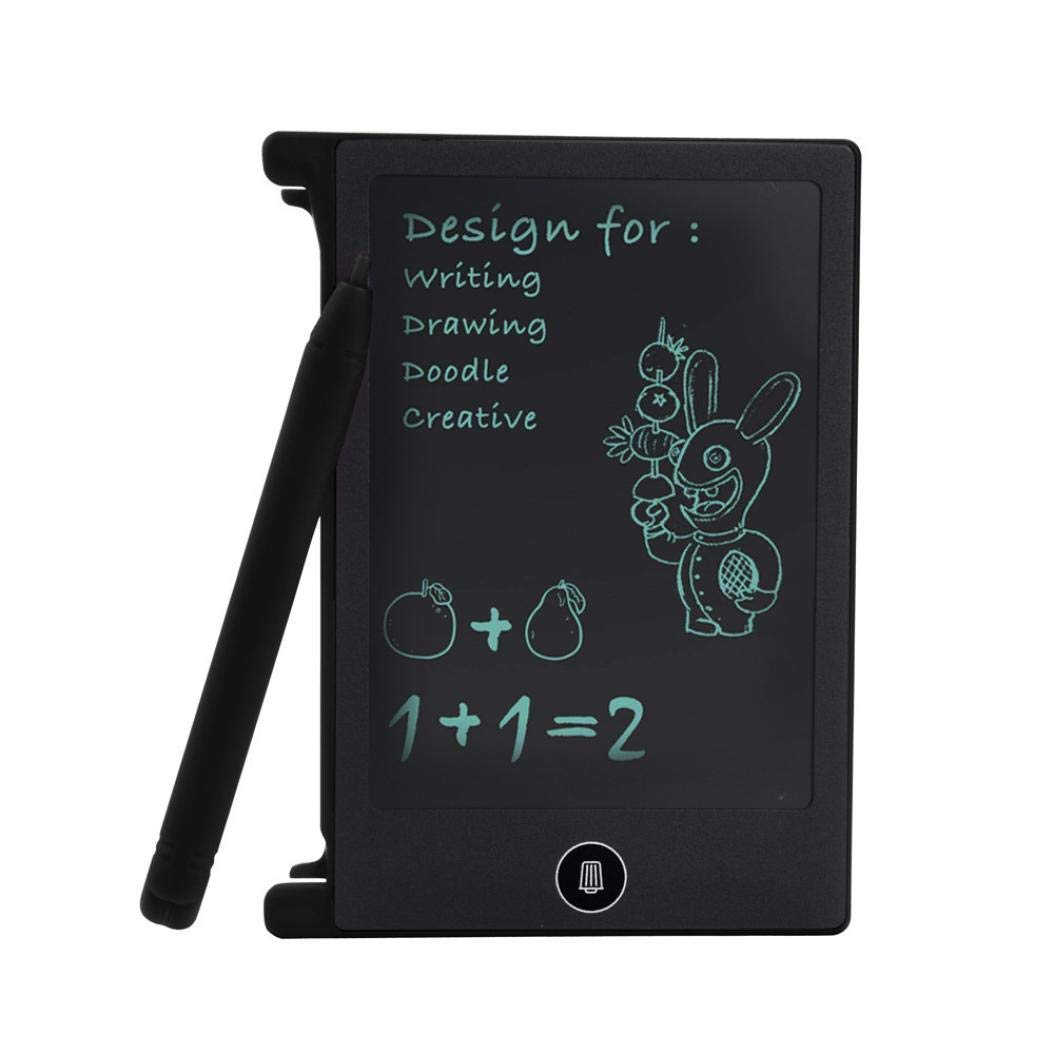 Kid Toys Sale!! 4.4 inch LCD Writing Tablet Doodle Board Kids Writing Pad Drawing Graphics Board (bk)