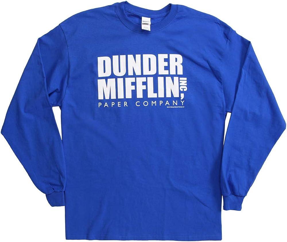 The Office Dunder Mifflin Logo Long Sleeve T-Shirt
