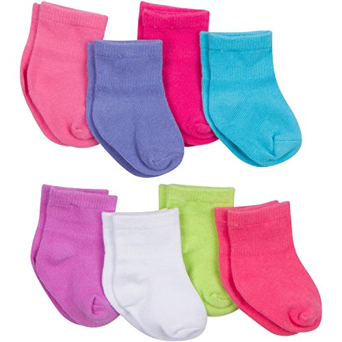 gerber-baby-girls-8-pack-snug-fit-sock-solids-0-6-months