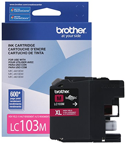 Brother Printer LC103M High Yield Cartridge Ink, Magenta
