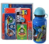 "Boys ""School Ready"" Thomas & Friends 11pc All Inclusive School Supply Bundle! Plus Bonus Thoma The Train Water Bottle With Flip Top Straw!"