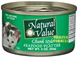 Natural Value Cat Food, Chunk Style Seafood Platter, 3-Ounce Cans (Pack of 24), My Pet Supplies