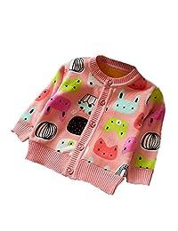 Zhuannian Baby Girls Cardigans Cartoon Fleece Jackets
