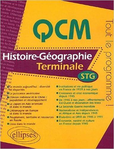 Livres gratuits en ligne QCM Histoire-Géographie Tle STG pdf