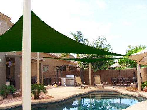 SET OF 2 - 11.5u0027 Triangle Sun Shade Sail w/ Carrying Bags & 13 Cool Shade Sails for Your Backyard - CanopyKingpin.com