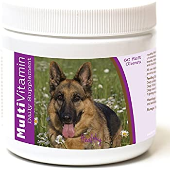 Healthy Breeds Dog Daily Vitamins Soft Chews for German Shepherd, Field View- Over 200 Breeds - for Small Medium & Large Breeds - Easier Than Liquid or ...