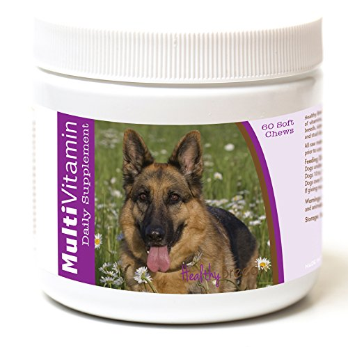 Healthy Breeds Dog Daily Vitamins Soft Chews for German Shepherd, Field View- Over 200 Breeds - for Small Medium & Large Breeds - Easier Than Liquid or Powders - 60 Chews