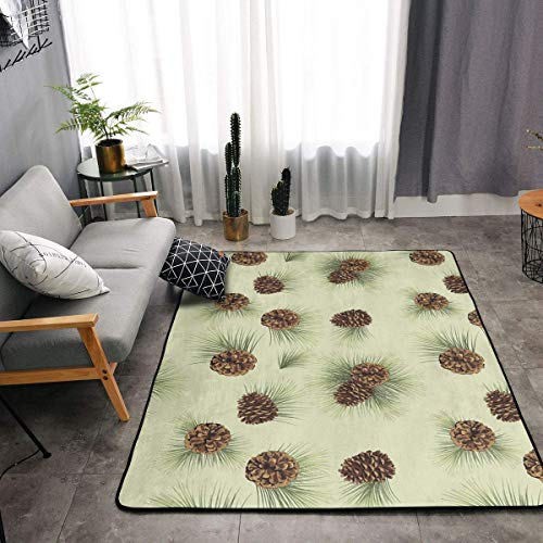 YOUNG H0ME Bedroom Living Room Kitchen Queen Size Kitchen Rugs Home Decor - Cute Pinecone Floor Mat Doormats Quick Dry Throw Bath Rugs Exercise Mat Throw Rugs Runner
