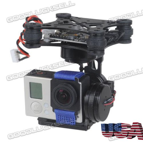 3-Axis Brushless Gimbal Camera Mount with 32bit Storm32 Controller for Gopro 3 4 FPV ()