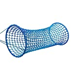 HearthSong® Blue Wave Horizontal Rope Tunnel - Approx. 96 L x 35 W