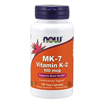 NOW Foods - MK-7 vitamina K-2 hueso Health Support 100 mcg. - 120 ...