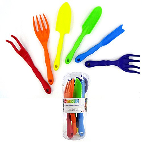 Gardening tools for kids 6 pc miniature toddler for Small garden tools set of 6