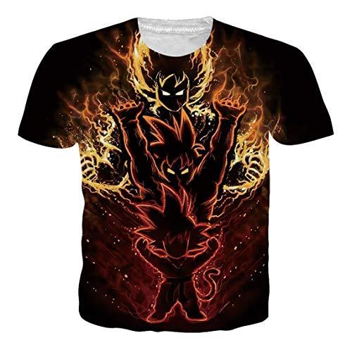 Ocsoc Anime Dragon Ball Z Goku T-Shirt for Men Unisex Summer Short Sleeve -