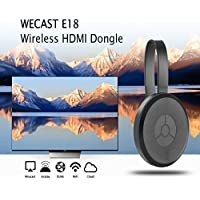 Miracast Dongle, WECAST E18  2.4ghz Wireless Hdmi Dongle Display Adapter Receiver 1080p Streaming Media Player Share Videos Images Docs Live Camera Musics