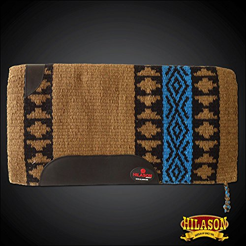 HILASON Western New Zealand Wool Saddle Blanket Brown Terquoise