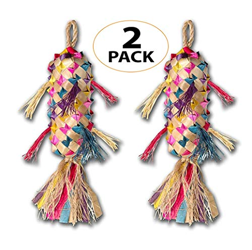 03113 Pk2 Small Spiked Pinata Bird Toy Cage Toys Cages Foraging Chew Shredder Conure