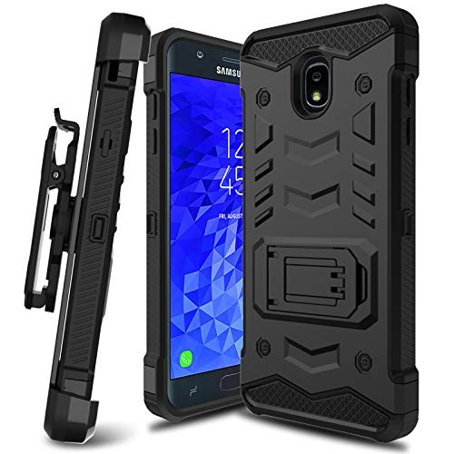 Galaxy J7 Star Case, Galaxy J7 Refine Case, Galaxy J7 2018 Case, LEAPTECH [Holster Series] Full Body Heavy Duty Armor Protective Case with Kickstand and Belt Clip for Samsung Galaxy J7 2018 (Black)