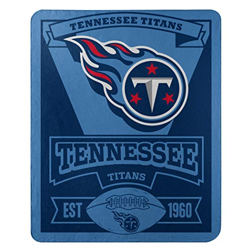 The Northwest Company NFL Tennessee Titans Marque Printed Fleece Throw, 50-inch by 60-inch, Blue