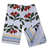 India Overseas Traders Cherries Dish Towels, set of 2
