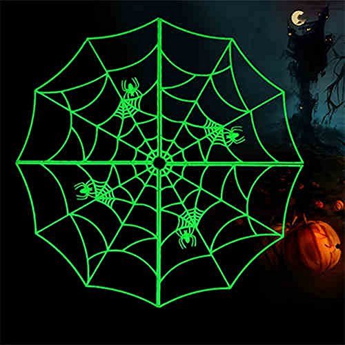 Halloween Haunted Cobweb Bar KTV Decorative Props Tricky Toys Luminous Spider Web 23 1/2 inch (Trick Or Trunk)