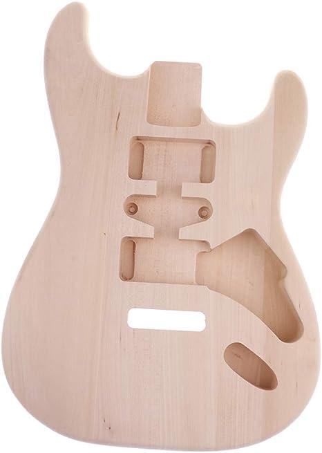 Sharplace Cuerpo de Guitarra Eléctrica Inacabado de Madera Partes ...