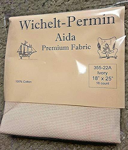 Wichelt Permin Premium AIDA Cross Stitch Fabric 16 Count Ivory 18″ x 25″
