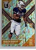 #7: 2018 Panini Elite Draft Picks Variation Aspirations Orange #105 Saquon Barkley Penn State Nittany Lions Rookie Parallel