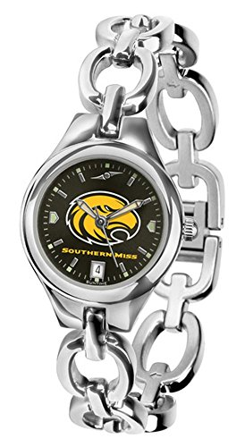 Golden Eagles Sport Steel Watch - NCAA Southern Miss Golden Eagles Ladies Stainless Steel Eclipse AnoChrome Watch