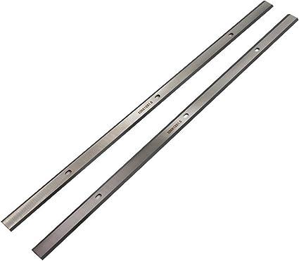 4PCS 2 Set 12.5 pouces remplacement couteaux lame pour Porter Cable PC305TP Raboteuse