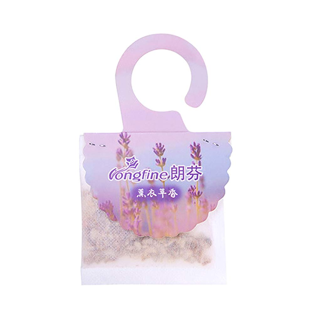 shaoyanger Hanging Scented Fragrance Bag Air Refreshing Refresher Wardrobe Closets Drawer Sachet Decoration Supplies Lavender