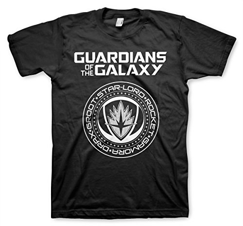 Guardians Of The Galaxy Shield Official T-Shirt (Black)