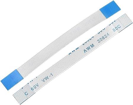 Sourcingmap - Cable flexible plano de 0,5 mm de paso de 120 mm FPC FFC, cable de cinta flexible para televisor LCD, coche, reproductor de DVD, ordenador portátil, 5 unidades (tipo A):